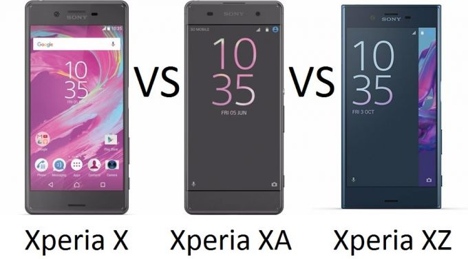 Sony Xperia X vs Xperia XA vs Xperia XZ: Battle of the X's