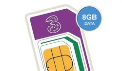 8GB Three SIM plan just £8 a month
